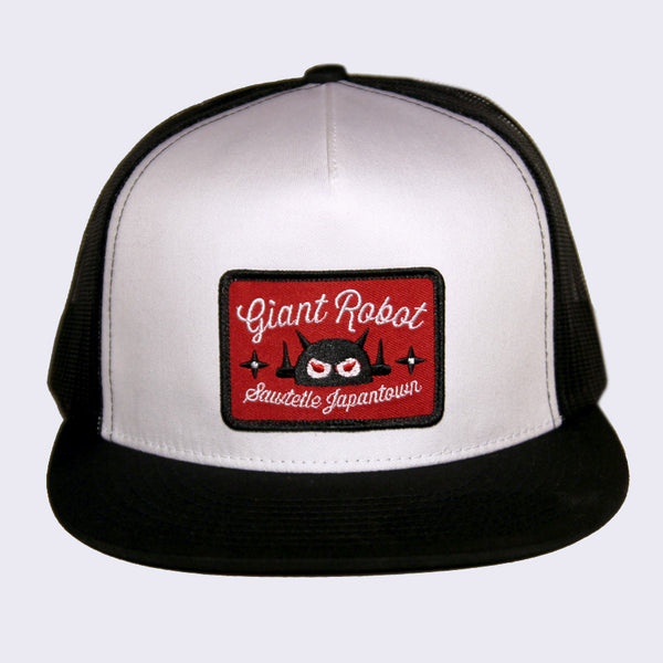 Giant Robot - Big Boss Sawtelle Patch Hat (White & Black Mesh)