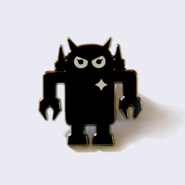 Giant Robot - Big Boss Robot Enamel Pin (Black/Gray)