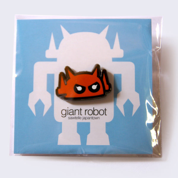 Giant Robot - Big Boss Robot Enamel Pin (Orange)