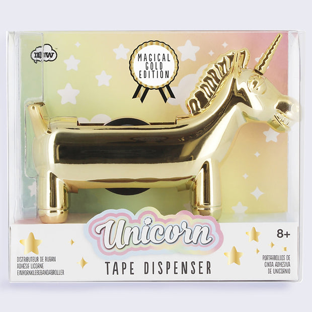 Unicorn Tape Dispenser - Magical Gold Edition!