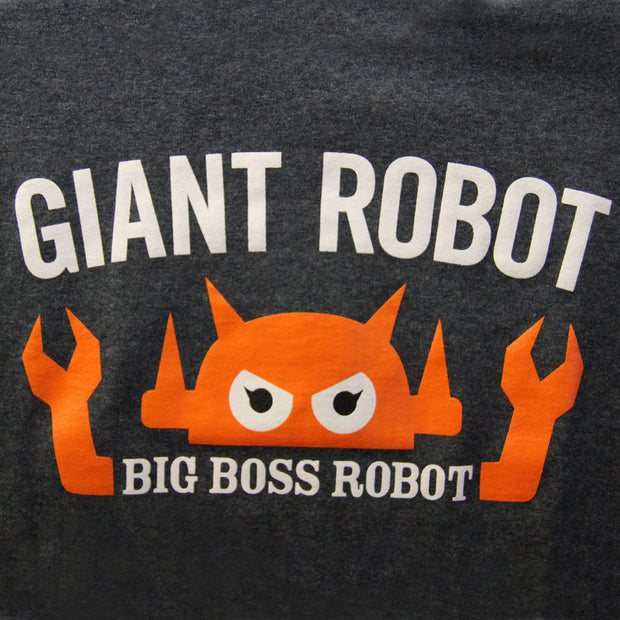 Giant Robot - Big Boss Robot T-shirt (Dark Heather Gray)