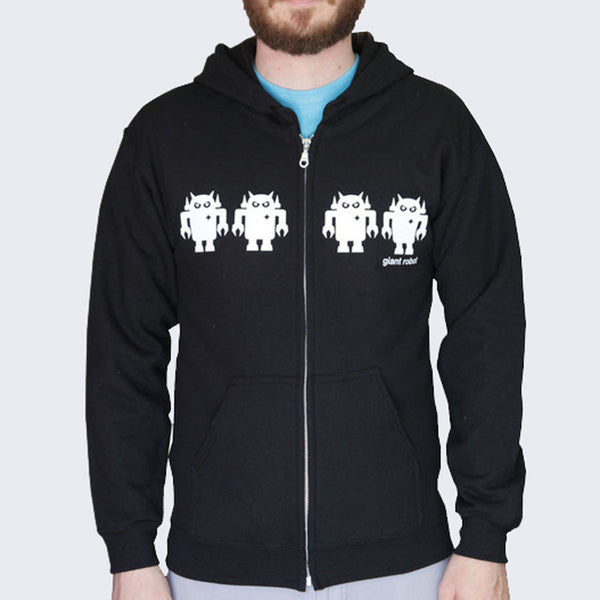 Giant Robot - Robot Army Hoody (Black/White)