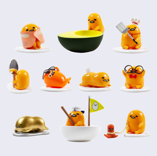 Kidrobot x Gudetama Eggstra Lazy Blind Box - Vinyl Mini Figure
