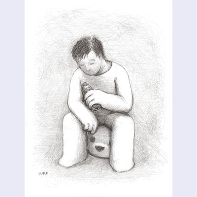 "Luke Chueh Drawings - ""Headrest"""