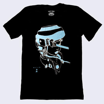 Katsuya Terada X Giant Robot - Hot Pot Girl T-shirt (Black - Glow in the Dark Edition)