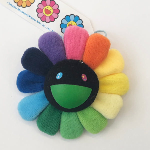 Takashi Murakami - Plush Flower Pin (Rainbow Black)