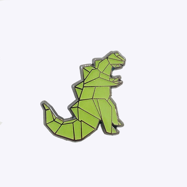 Giant Robot - Origami Kaiju Monster Enamel Lapel Pin Glows in the Dark