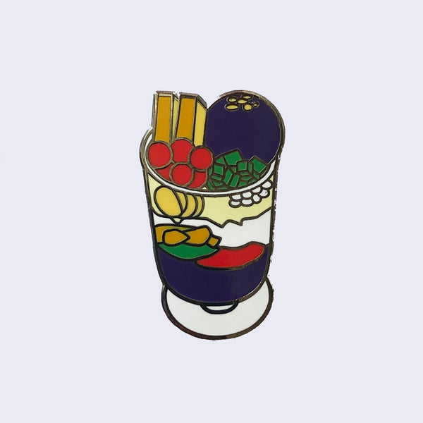 Giant Robot - Halo Halo Filipino Dessert Enamel pin / Lapel Pin Pinoy Style