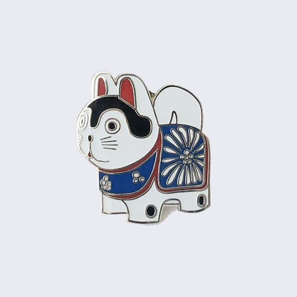 Giant Robot - Traditional Lucky Dog Enamel Pin (Glow-in-the-Dark)