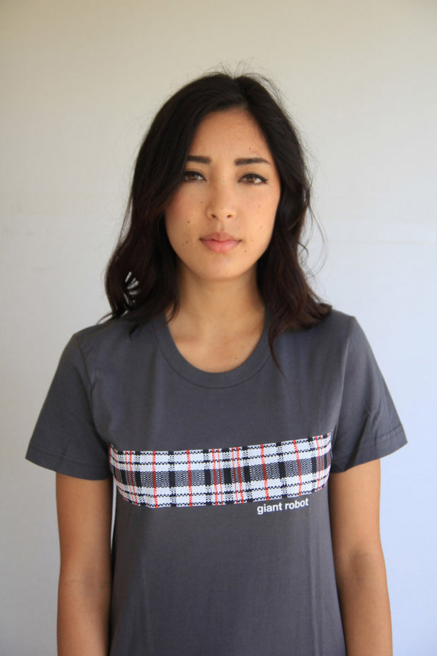 Giant Robot China Bag Plaid T-shirt (Grey)