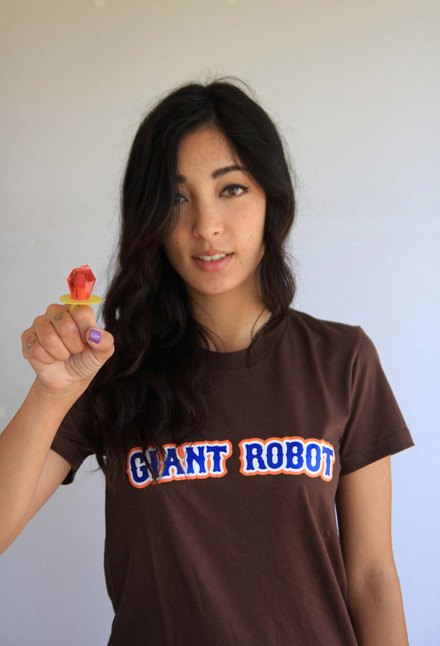 Giant Robot - Red Sox T-shirt (Brown)
