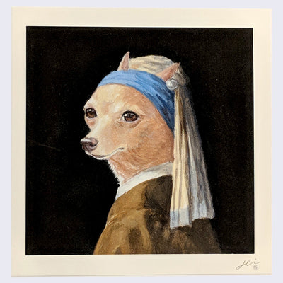 Justine Lin - Dog with a Pearl Earring