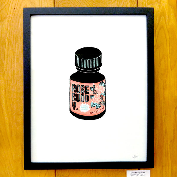 "The Plant Show 2 - Jasjyot Singh Hans - ""POPPERS"" (framed/unframed screen print)"