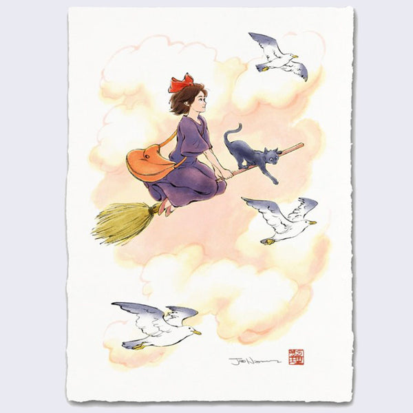 Jed Henry - First Flight (Kiki's Delivery Service) Giclee Print