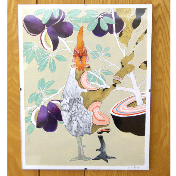 Junko Ogawa - Rooster 1 Painting