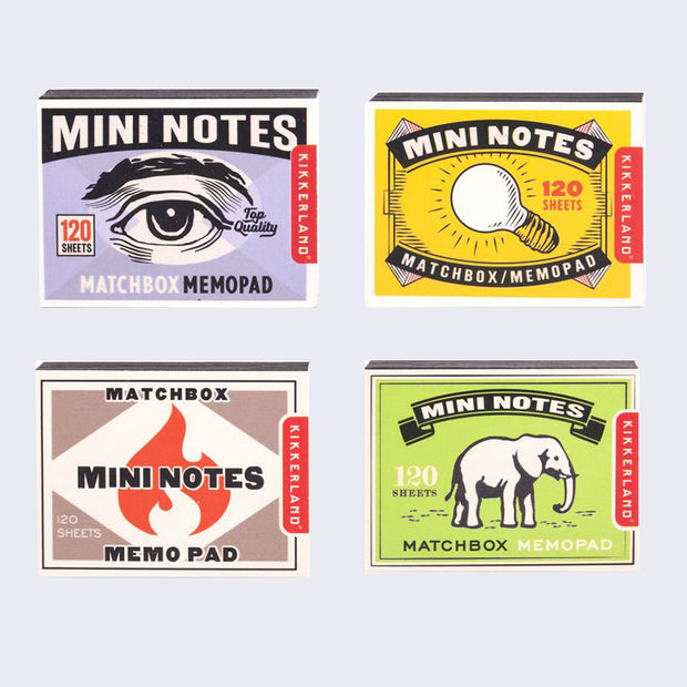 Matchbox Mini Notes (Set of 4)