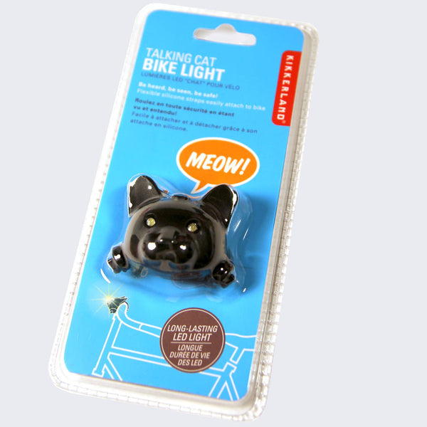 Talking Cat Bike Light