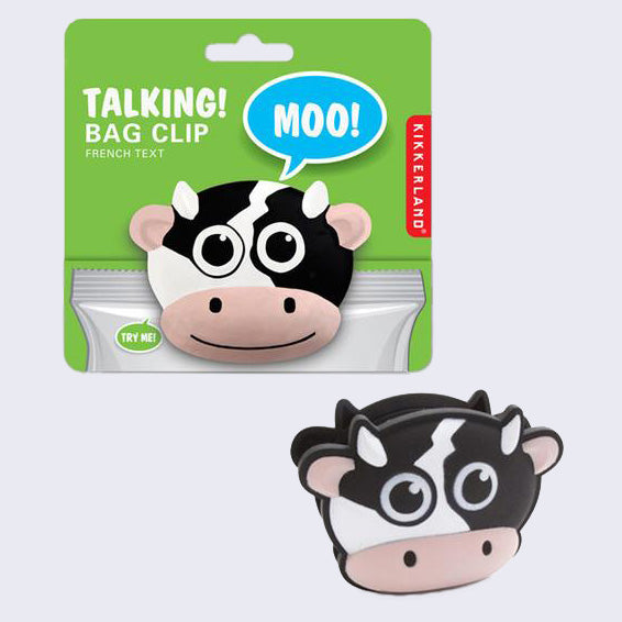 Talking Bag Clip (Cow)