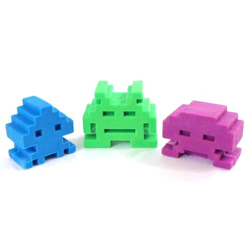Kikkerland - Space Invader Eraser Pack