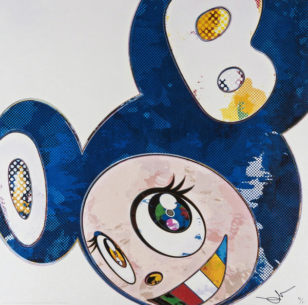 Takashi Murakami - And Then x 6 (Lapis Lazuli: The Superflat Method)