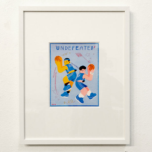 Lina Yu - Undefeated - #37 (Riso Print - framed/unframed)