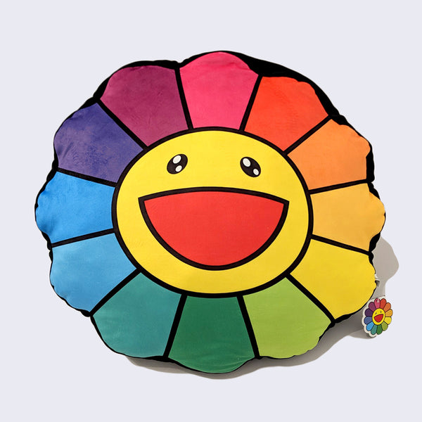 "Takashi Murakami - ""Kintaro Ame (Hand Crafted Cut Candy)"" Style Flower Cushion (60cm)"