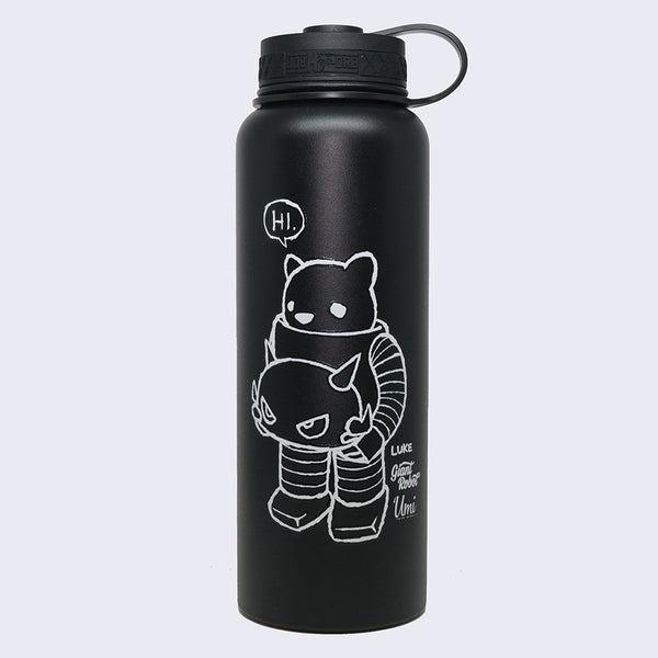 Luke Chueh x Giant Robot - Who's the Boss Now 40oz Flask