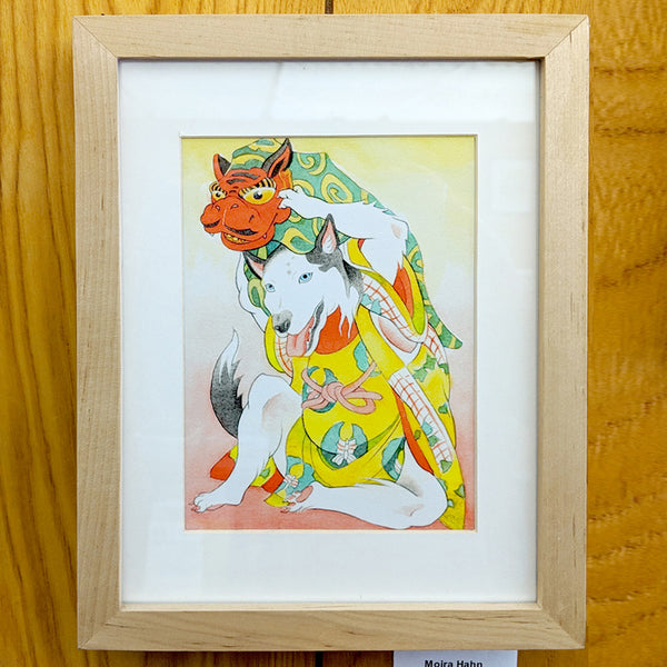 Moira Hahn - Year of the Dog Series/Shirokiya (framed/unframed print)