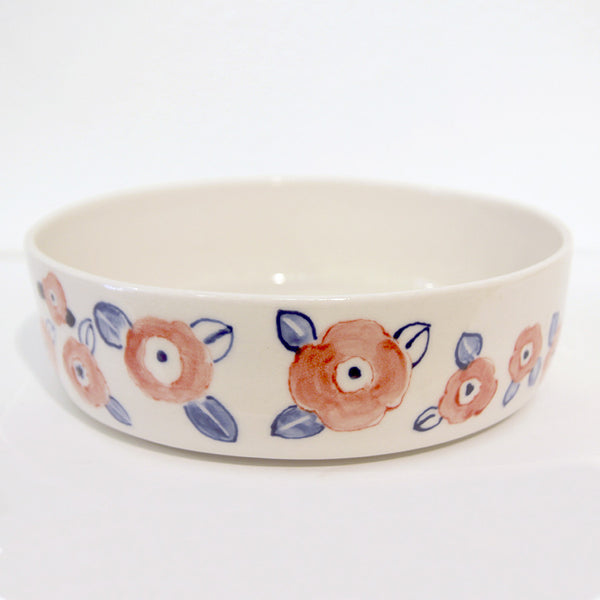 Mari Nakamura - Ceramic Bowl (Red & Blue Flowers)