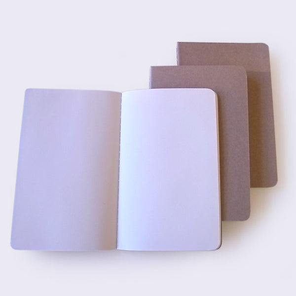 Moleskine Set of 3 Plain Notebooks (Small)