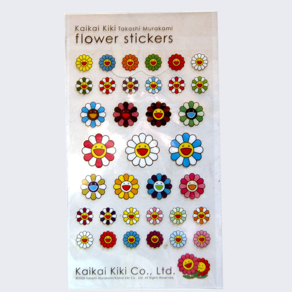 Takashi Murakami - Flower Sticker Sheet (Clear)