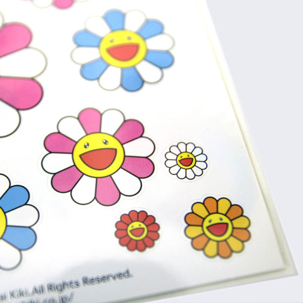 Takashi Murakami - Flower Sticker Sheet (Pink)