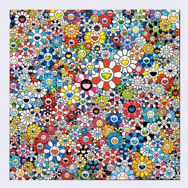 Takashi Murakami - Flowers with Smiley Faces