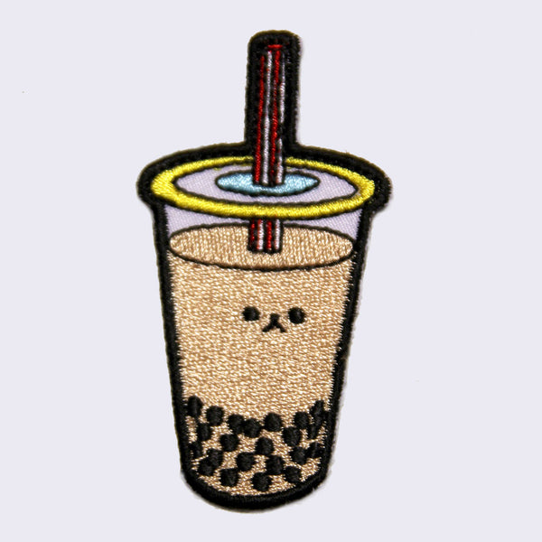 Giant Robot - Boba Bubble Tea Embroidered Patch (Milk Tea)