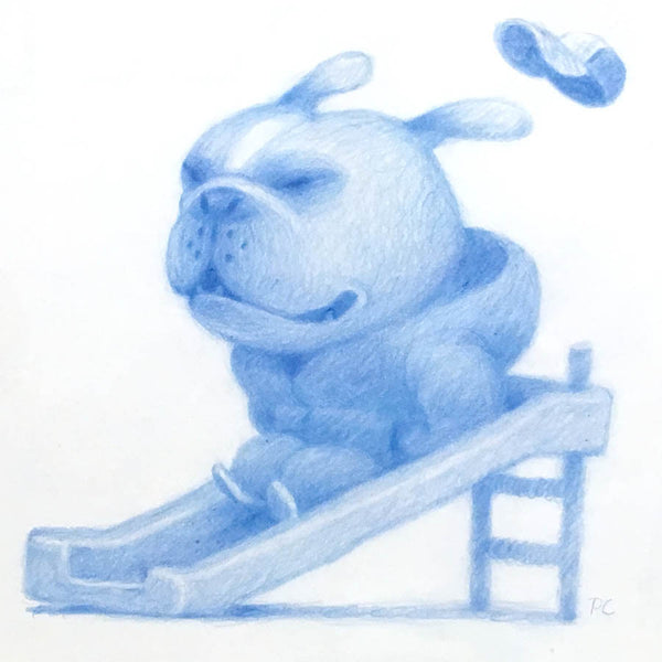 Peter Chan - Dog on Slide