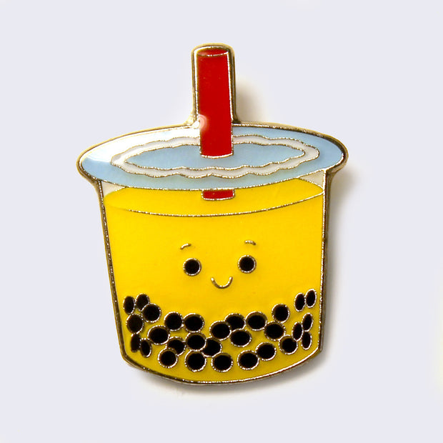 Giant Robot - Big Boba Bubble Tea Enamel Pin