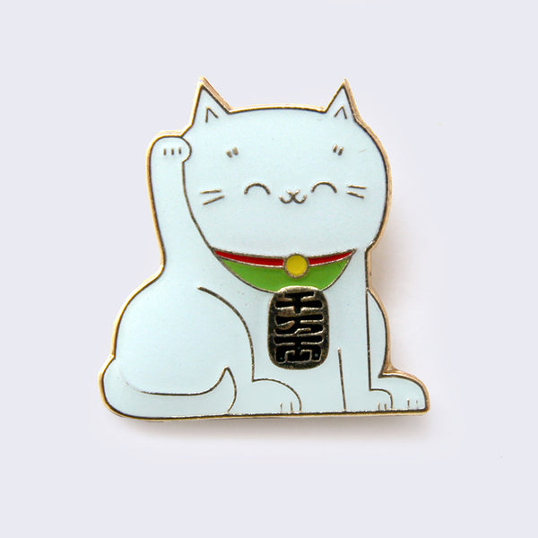Giant Robot - Lucky Cat Enamel Pin (Glow-in-the-Dark)