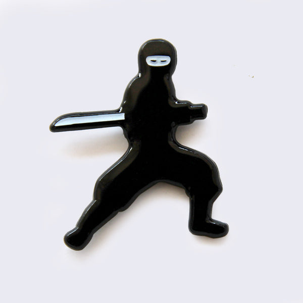 Giant Robot - Ninja Sword Stance Enamel Pin (Glow-in-the-Dark)