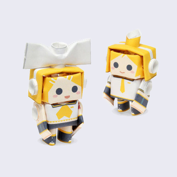 Piperoid - Paper Pipe Figure Set (Hatsune Miku Series - Rin & Len)