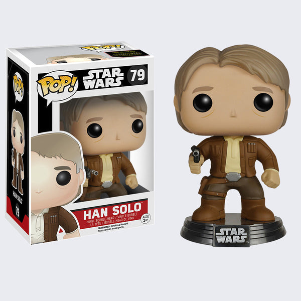 Funko x Star Wars - Pop! Han Solo Bobble-Head Vinyl Figure