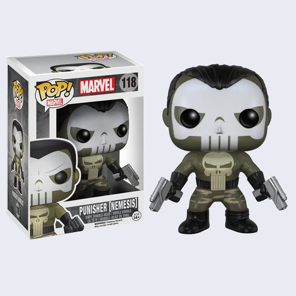Funko x Marvel - Pop! Punisher Nemesis Vinyl Bobble Head Figure