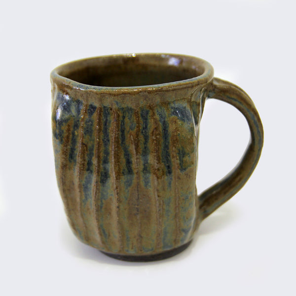 City of Lost Angels - Ceramic Large Mug (Brown Blue Carved)