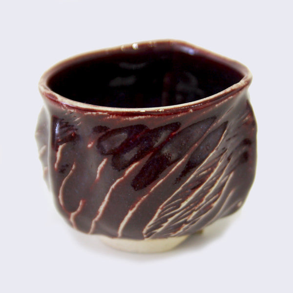 City of Lost Angels - Ceramic Large Yunomi Cup (Burgundy)
