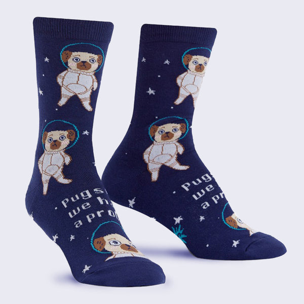 Pugston - Women's Crew Socks