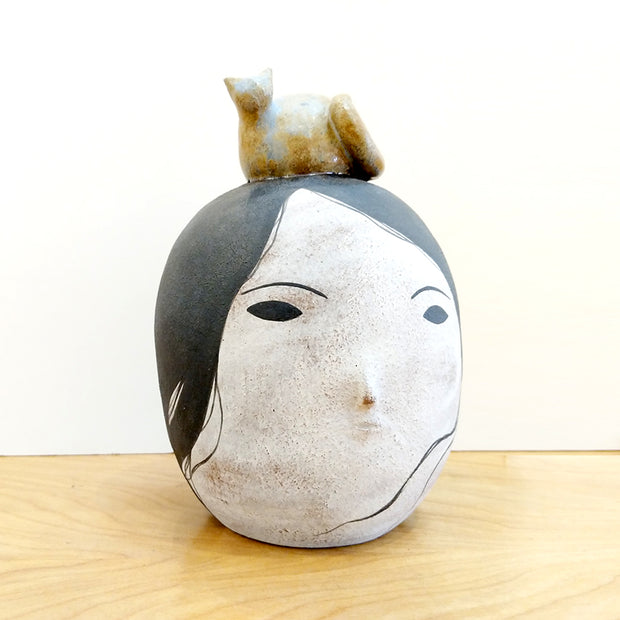 Cones of Vision - Rami Kim - Lady Head with Kitty #27