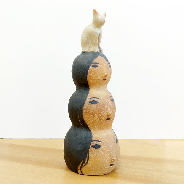 Cones of Vision - Rami Kim - Three Stack Lady Sculpture with Kitty S1 #21