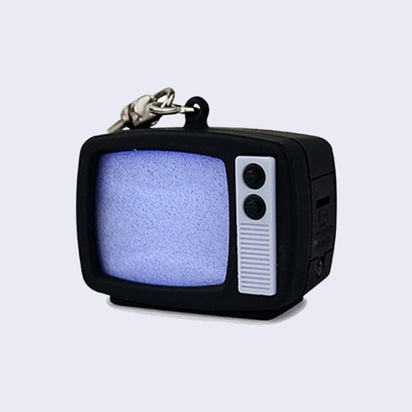 Retro TV LED Light-Up Keychain