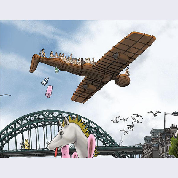 Kozyndan - Battle on the River Tyne - Bright Edition Print