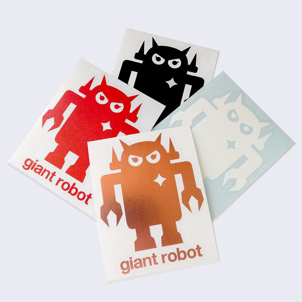 Giant Robot - Vinyl Cut Big Boss Robot Decal (Assorted)
