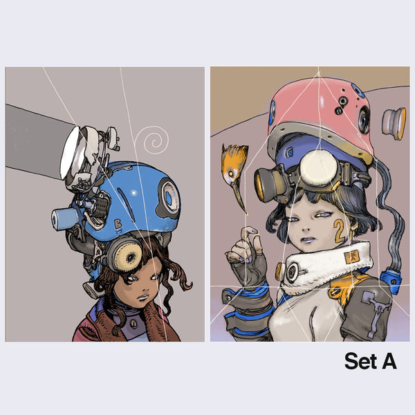 Katsuya Terada - Hot Pot Girl Print Sets - Choice of A or B